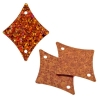 Sequins Hologram 29x36mm With Hole Diamond Orange